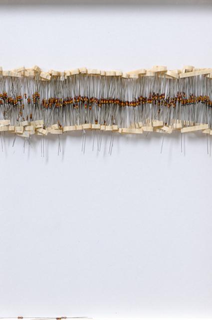 <p>O.T. Banderole (2014), Widerstände, Objektrahmen, © Kay Kromeier</p>